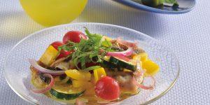 アジと夏野菜のマリネサラダ
